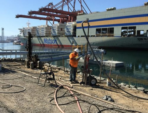 Embankment Densification and Void Filling Long Beach Harbor California